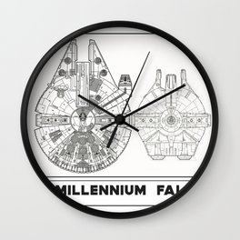 Millennium Falcon Blueprint Wall Clock