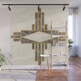 Luxurious gold and marble Wall Mural