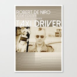 TAXI DRIVER [MINIMAL MOVIE POSTER] Canvas Print
