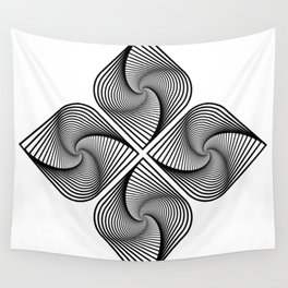 Flower Optical Illusion Wall Tapestry