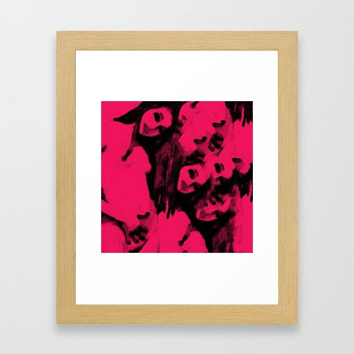 Touching Framed Art Print