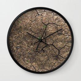 cracked ground Wall Clock
