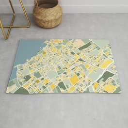 The Hague, The Netherlands, Map Art Rug