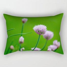 Macro Chive Blossoms 1 Rectangular Pillow
