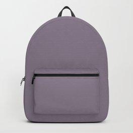 Deep Heather Purple-Gray / Grey Shade - Plain Block Colours - Summer / Autumn / Dark Pastels Backpack