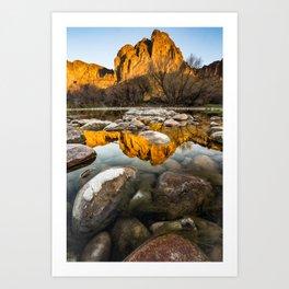 Rocky Reflection Art Print
