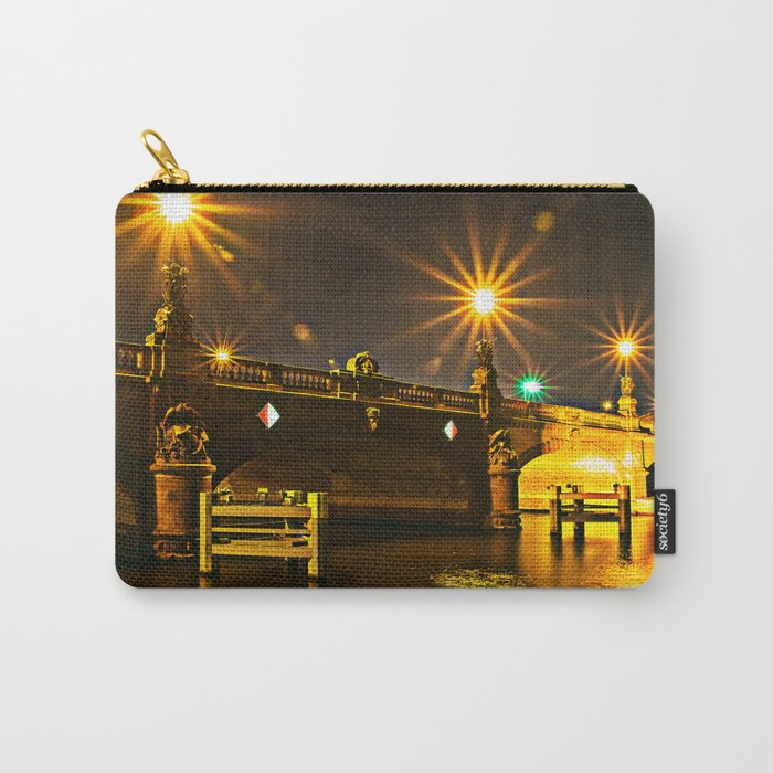 Night on the Moltke-Bridge in Berlin Carry-All Pouch