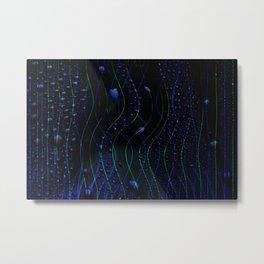 Concept abstract : Blue drops Metal Print