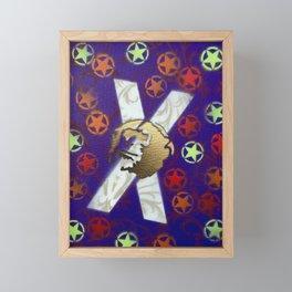 Monky Cross Bones Framed Mini Art Print