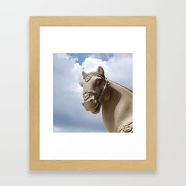 Stone Horse Head 2 Framed Art Print