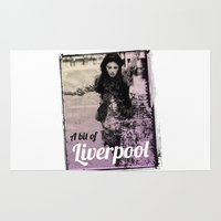 liverpool Area & Throw Rugs featuring LIVERPOOL by TOO MANY GRAPHIX
