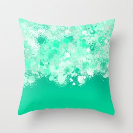 paint splatter on gradient pattern magi Throw Pillow