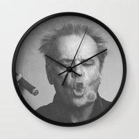 jack nicholson Wall Clocks featuring Jack / Nicholson by Earl of Grey