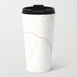 Paris Gold and White Street Map Travel Mug