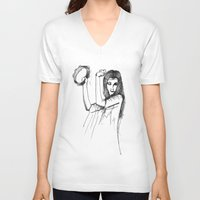 gypsy V-neck T-shirts featuring Gypsy by Audrey Parrill