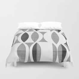 Seventies Black and White Duvet Cover