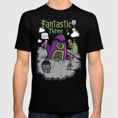 Fantastic Three MEDIUM Black Mens Fitted Tee