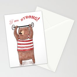 I am strong Stationery Cards