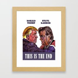 Trump and Bannon Framed Art Print