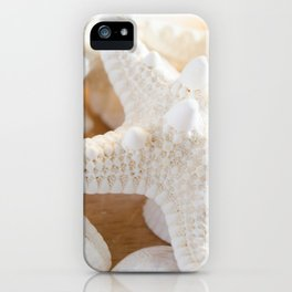White Starfish iPhone Case