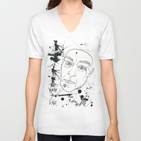 hunter s thompson V-neck T-shirts featuring Hunter S Thompson by Nicostman