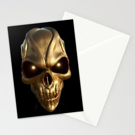 Skull with glowing golden eyes Stationery Cards