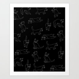 kitties everywhere Art Print