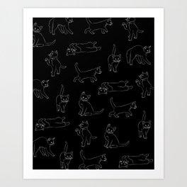 kitties everywhere Art Print