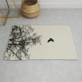 Exit Point  - Graphic Birds Series, Plain - Modern Home Decor Rug
