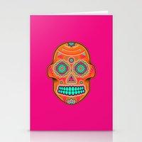 sugar skull Stationery Cards featuring Sugar Skull by Good Sense