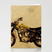 ducati Stationery Cards featuring Ducati Scrambler 350 1970 by Larsson Stevensem