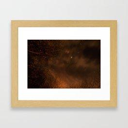 Spooky Trees - Stars Framed Art Print