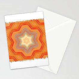 Orange geometrical pattern Stationery Cards
