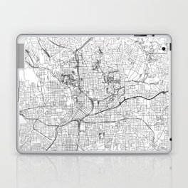 Atlanta White Map Laptop & iPad Skin