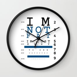 Not Fat Just Easy To See Wall Clock
