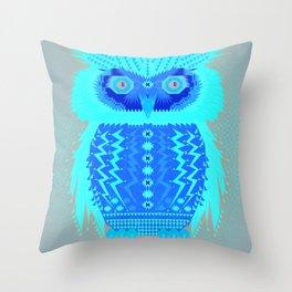 Geometric Owl Throw Pillow