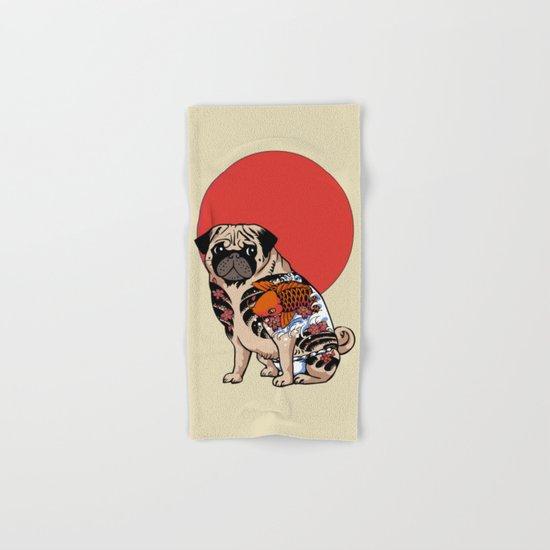 Yakuza Pug Hand & Bath Towel
