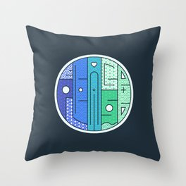 Play on words   Peace Please Throw Pillow