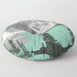 Moraine Lake Poster Floor Pillow