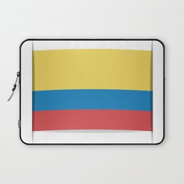 Flag of Colombia. The slit in the paper with shadows. Laptop Sleeve