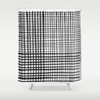 grid Shower Curtains featuring Grid by FrankieStudio
