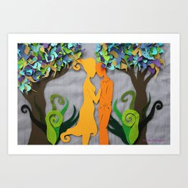 Summer kiss 3 Art Print
