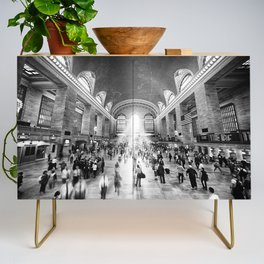 Grand Central Daylight (classic black & white edition) Credenza