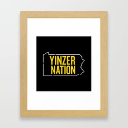Yinzer Nation Framed Art Print