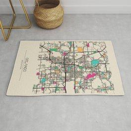 Colorful City Maps: Orlando, Florida Rug