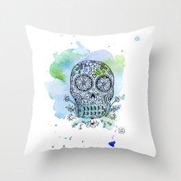 Colorful Calaverita Throw Pillow