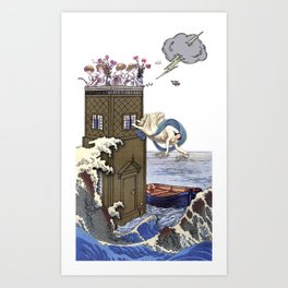 THE TOWER MAJOR ARCANA Art Print