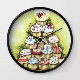 cupcake christmas tree Wall Clock