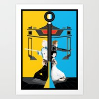 tron Art Prints featuring Tron by Sara E. Snodgrass