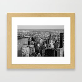 Midtown from top (B&W) Framed Art Print
